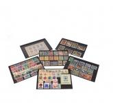 50 x A5 KOBRA K06 Extra starker Karton Einsteckkarten Steckkarten Schwarz Vorderseite versiegelt 210 x 147 mm mit 6 Streifen 202 x 16 mm