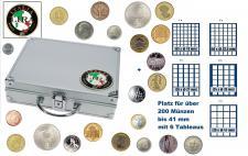 SAFE 232 STANDARD ALU Länder Münzkoffer SMART Italien 6 Tableaus MIixed - Für über 200 Münzen bis 41 mm