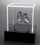 """SAFE 5243 Beleuchtete Acrylglas Präsentations Vitrinenwürfel Deko """" Light CUBE """" 100x100x100 mm Für Antiquitäten & Porzellan & Figuren"""