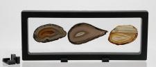 SAFE 4529 SCHWEBERAHMEN NEO FOTORAHMEN BILDERRAHMEN 3D Schwarz 230 x 90 mm / 208 x 67 mm Für Mineralien - Fossilien - Muscheln - Schnecken - Bernstein - Kristalle