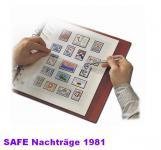 SAFE 1781 dual Nachträge - Nachtrag / Vordrucke Berlin Jahresschmuckblätter - 1981