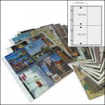 5 x SAFE 5471 Postkartenhüllen Ansichtskartenhüllen DIN A4 4er Teilung für bis zu 40 Karten