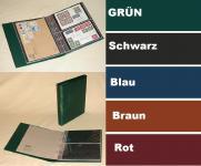 KOBRA G22 Hellbraun - Braun Universal Doppel-FDC-Album Sammelalbum 10 geteilten Blättern Für 40 FDC 's Briefe Postkarten Banknoten
