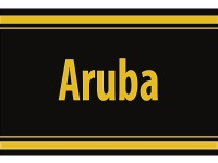 "1 x SAFE 1130 SIGNETTE Aufkleber selbstklebend "" Aruba """
