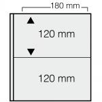 10 x SAFE 1277 ARTline Ergänzungsblätter Banknotenhüllen Hüllen 2er Teilung 180 x 120 mm