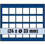 1 x SAFE 6333 SP Tableaus / Einsätze SMART 24 eckigen Fächern 33 - 34 mm 5 - 10 Euro DM Mark DDR - 20 Mark der DDR