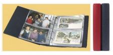 KOBRA PK3 Rot Potskartenalbum Album für Geldscheine Banknoten Postkarten Ansichtskarten 40 Blatt = 160 St.