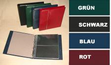 KOBRA G12P Grün Universal Ringalbum Ringbinder Album im Großformat mit 20 Blättern G12E für 80 Ganzsachen Postkarten Briefe Banknoten