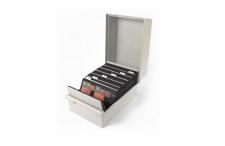 KOBRA KS1 Kunststoff Karteikasten A5 leer Für bis zu 450 Einsteckkarten Steckkarten DIN A6 C6 A5