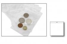 100 x SAFE 1309-2 Snapbeutel Polybeutel Taschen Beutel mit Druckverschluß 80 x 80 mm Für Kleinteile Münzen - Mineralien - Schrauben - Nägel - Haken -