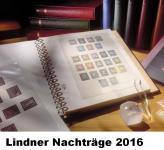 LINDNER 120BK-16I-2016 Nachtrag Nachträge Vordrucke Deutschland Teil 1 Zehnerbogen 2016 + BONUS