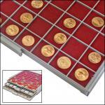 SAFE 6125 BEBA Filzeinlagen ROT für Schubladen Schuber 6105 Münzboxen 6605 Maxi Münzkasten