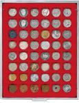 LINDNER 2149 Münzbox Münzboxen Standard 48 x 28 mm Münzen quadratische Vertiefungen 100 Goldeuro 2 Mark Kaiserreich 5 Euro Blauer Planet
