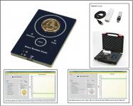 SAFE 9650 Goldtester Prüfgerät Goldscreencard - Für Gold & Silber Münzen testen leicht gemacht komplett mit Zubehör für die Hosentasche