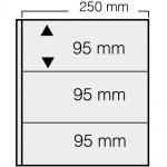 5 x SAFE 7353 Banknoten Hüllen Ergänzungsblätter 3er Teilung 250 x 95 mm