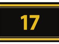 """1 x SAFE 1130 SIGNETTE Aufkleber """" 17 """" Zahlen Ziffern Bandzahlen"""