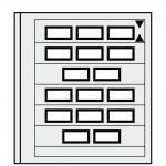 5 x SAFE 664 dual Blankoblätter Einsteckblätter Spezialblatt Burgen Schlösser Paare Automatenmarken
