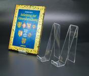 3 x SAFE 5276 Schräger Acryl Objektaufsteller Ständer Buchstütze M - Medium Für Bücher Schaufenster Vitrinen
