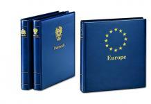 SAFE 7073 Yokama Ringbinder Album Favorit Blau mit Länderwappen Wappenbinder + Titel Europa / Europe Für Banknoten - Postkarten - Briefe - Fotos - Bilder - Briefmarken