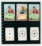 1 x SAFE 7732 Einsteckblätter Spezialblätter Favorit Schwarz 6 Taschen 82 x 145 mm Für 12 Spielkarten - Tradingcards
