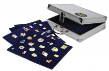SAFE 240 ALU Sammelkoffer Koffer 6 Tableaus Für bis zu 240 Pin's & Buttons & Anstecknadeln