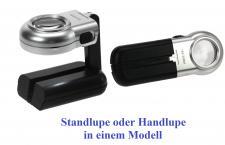SAFE 9551 Präzision Leuchtlupe Handlupe Standlupe Lupe Highpower Linse 30 mm - 16 fache Vergrößerung