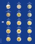 1 x SAFE 7822-18 TOPset Münzblätter Ergänzungsblätter Münzhüllen Münzblatt mit farbigem Vordruckblatt für 2 Euromünzen Gedenkmünzen - 2016 - 2017