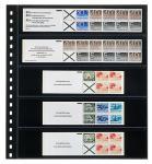 1 x LINDNER 825 Klarsichthüllen Schwarz mit 5 Streifen 242 x 50 mm Für Briefmarken Markenheftchen
