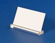 3 x SAFE 5163 Acryl Schilderhalter 100 mm Oberseite geschlitzt - Für Schaufenster & Vitrinen & Aufsteller & Schilder & Preisetiketten & Etiketten & Preisschilder