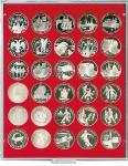 LINDNER 2106 Münzbox Münzboxen Standard für 30 Münzen 39 mm 1 Unze Meaple Leaf Silber 3 & 10 Rube