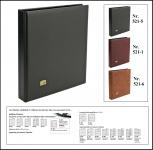 SAFE 521-5 Schwarz Universal Album Ringbinder (leer) zum selbst befüllen Platz für bis zu 60 Blätter