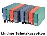 LINDNER 817K - W - Weinrot Rot Kassetten - Schutzkassetten Für das Album 817 im Langformat