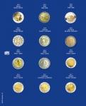 1 x SAFE 7302-22 TOPset Münzblätter Ergänzungsblätter Münzhüllen mit farbigem Vordruckblatt für 2 Euromünzen Gedenkmünzen in Münzkapseln 26 - 2016 - 2017