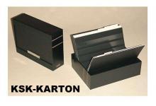 KOBRA KSK Komplett Patent - Kassette schwarzer Kunststoff + 30 Einsteckkarten DIN A5 aus Karton Mix K01 - K06