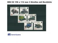 1000 x SAFE 7028 DIN C6 Einsteckkarten Steckkarten Klemmkarten 3 Streifen + Schutzfolie für Briefmarken Banknoten Briefe Postkarten Fotos