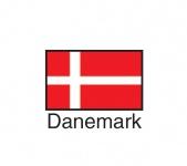 1 x SAFE 1175 SIGNETTE Flagge Dänemark - Danemark - Danmark Aufkleber Kennzeichnungshilfe - selbstklebend
