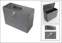 SAFE 3999 Security Metall Koffer abschließbar Maße außen 34, 5 x 27 x 15 cm