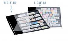 1 x LINDNER 1172F-18 Einsteckblätter 18-Ring Lochung schwarz mit 10 Streifen