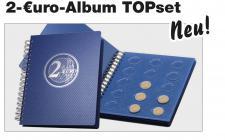 SAFE 7799 - 2 Euro Münzalbum TOPset Spiralbindung mit 4 Blättern zum eindrücken Für 60 - 2 Euro Gedenkmünzen
