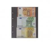 10 x KOBRA G23E Ersatzblätter Ergänzungsblätter glasklar + schwarzem ZWL 3 Taschen 180x75 mm Für Banknoten Geldscheine Papiergeld Notgeldscheine