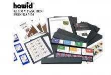 HAWID HA 1034 / HA1034 Gelbe Packung 25 Streifen 210x34 mm schwarze Klemmtaschen