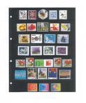 10 x LINDNER 4107 Einsteckhüllen Ergänzungsblätter Publica L A4 7 Taschen / Streifen schwarz 40 x 220 mm Für Briefmarken