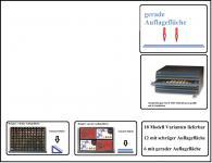SAFE 6560 Schubladen für SAFE 6500 Möbelelement mit blauer Einlage flexible ohne Facheinteilung Für Anstecknadeln Buttons Pins Schmuck Mineralien Militaria Ansteknadeln Orden