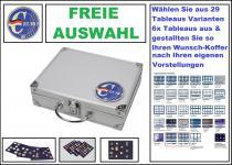 SAFE 279-10 ALU Münzkoffer Deutschland 3D Plakette + 6 Tableaus aus 29 Varianten FREIE AUSWAHL