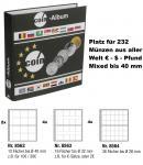 SAFE 8558 Münzalbum Designo Universal - World Coins MODERN-STYLE + 10 Münzblättern Mixed Für 232 Münzen bis 40 mm