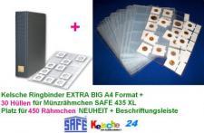 30 x Kelsche 435 Hüllen für Münzrähmchen 450 St + KELSCHE 4880 RINGBINDER