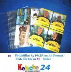 10 Banknotenhüllen Hüllen DIN A4 Kelsche glasklar 10 x 15 cm 4er Teilung für bis zu 80 Gelscheine Banknoten