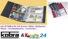KOBRA Postkartenalbum Ansichtskarten + 40 Bl. = 160