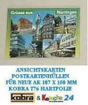 500 KOBRA T76 Postkartenhüllen Hüllen Schutzhüllen neue AK Postkarten Ansichtskarten Banknoten 107 x 150 mm