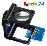 LEUCHTTURM 308008 - FZ5LED Fadenzähler FZ5LED + LED Lampe 5x fache Vergrößerung
